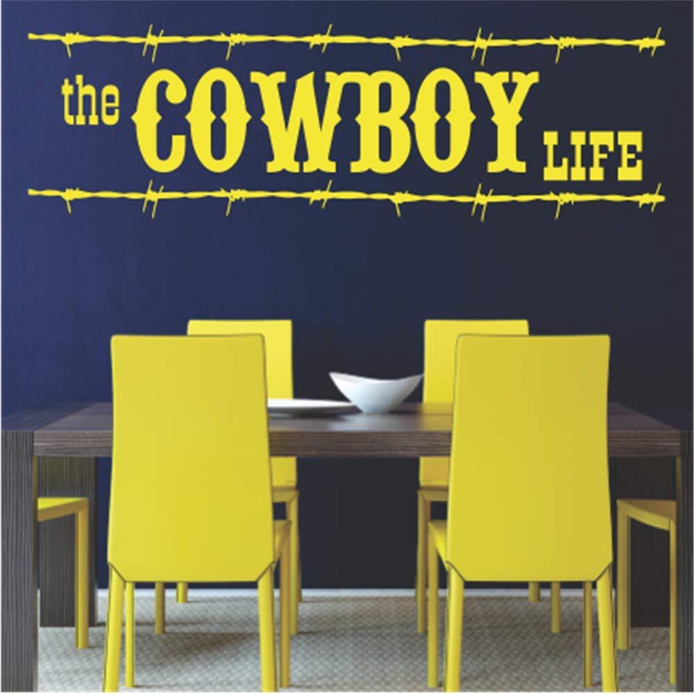 Wall Sticker Family DIY Decor Art Stickers Home Decor Wall Art The Cowboy Life For Nursery Kids Room Boys Room