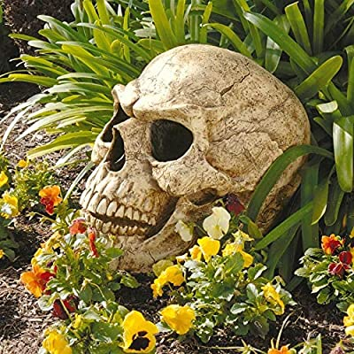 Design Toscano Sinister Simon Giant Skull Sculpture : Outdoor Statues : Garden & Outdoor