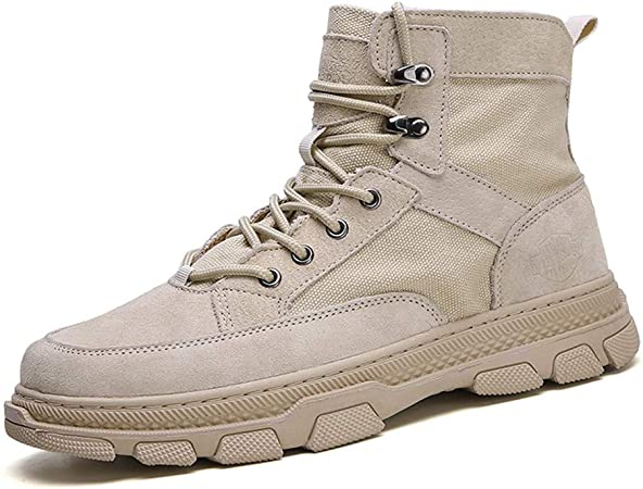 SMSZ Ankle Boots for Men Work Boot Lace