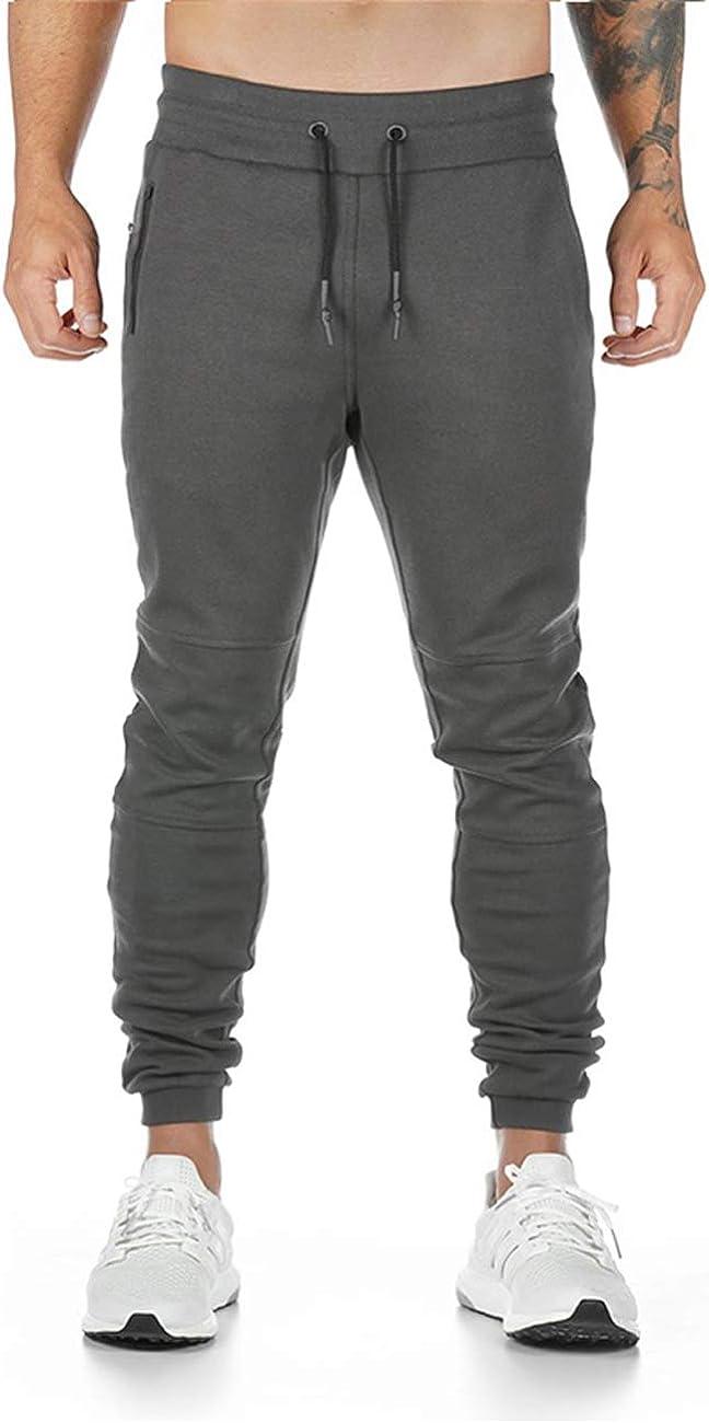 Yageshark Pantaloni da jogging da uomo vestibilit/à slim fit per il tempo libero in cotone
