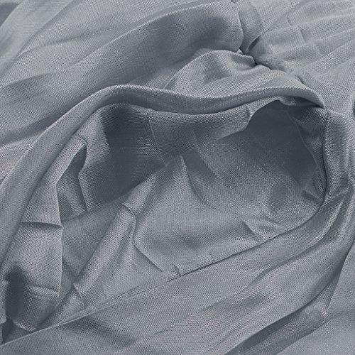 In A Con F Fityle Donna Da Pieghettato Bermuda Grigio Chiffon Chiffon Coste In Elastico Coulisse C44z0wWqxZ