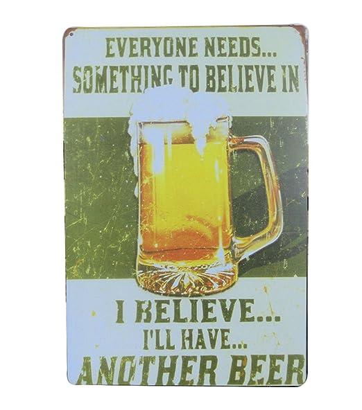 kentop Cartel de chapa Cartel de de cerveza publicidad ...