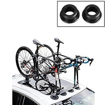 ROCKBROS Portabicicletas Baca Bicicleta con Ventosa de Almacenamiento para Auto (Adaptador 15mm - par): Amazon.es: Coche y moto