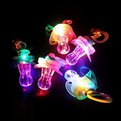 LED Pacifier Whistle 12 Pieces Light up Blinking Joke Pacifier Toy Suitable for Activities in KTV and Bar Concert Tools for Cheering for Sports Events: Toys & Games
