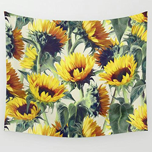 Flora Tapestry Wall Hanging - APHER Sunflower Tapestry Wall Hanging Light-Weight Polyester Fabric Wall Decor Bedroom Living Room Dorm Decor 50