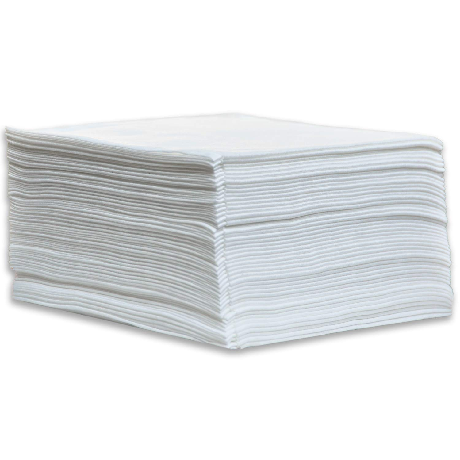 DAVELEN Disposable Large Luxury Towels Spa and Salon Quality Softness for Guests, Clients | Hair, Face, Body Use | Luxurious Comfort, Hygienic, Ecofriendly | Towels Size: 31.5'' x 15'' (100, white) by DAVELEN