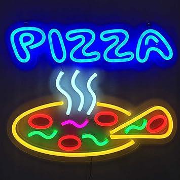Amazon.com: Placa de neón LED de MOCHEN, para colgar pizzas ...