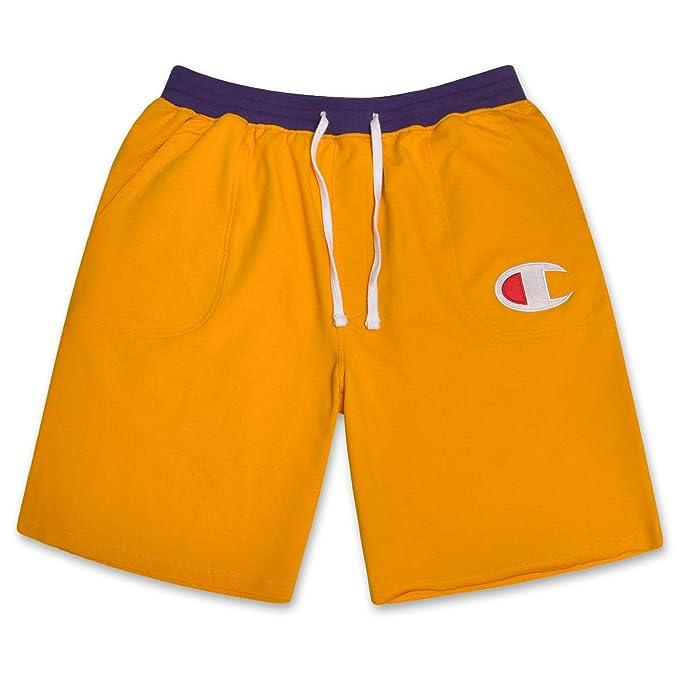 Champion Mens Big and Tall Powertrain Shorts Wth C Logo on Left Leg