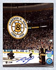 Cam Neely Boston Bruins Autographed Banner Retirement Night 8x10 Photo