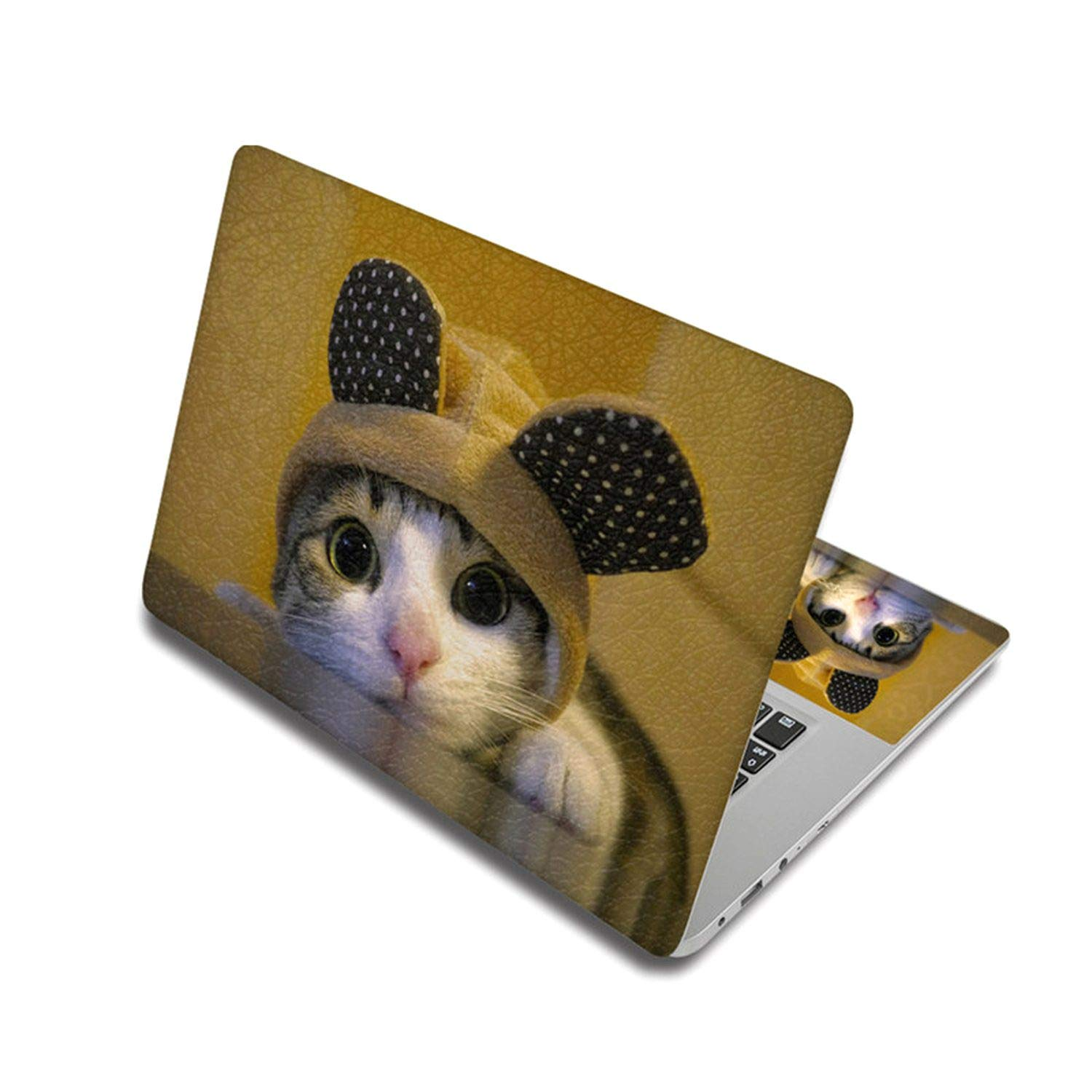 Cute Cat Pattern Sticker For Laptop Skin Removable Notebook Stickers Pc Decal For Xiaomi Pro/Mac Air/Toshiba/Hp,Custom Other Size,Laptop Skin 1