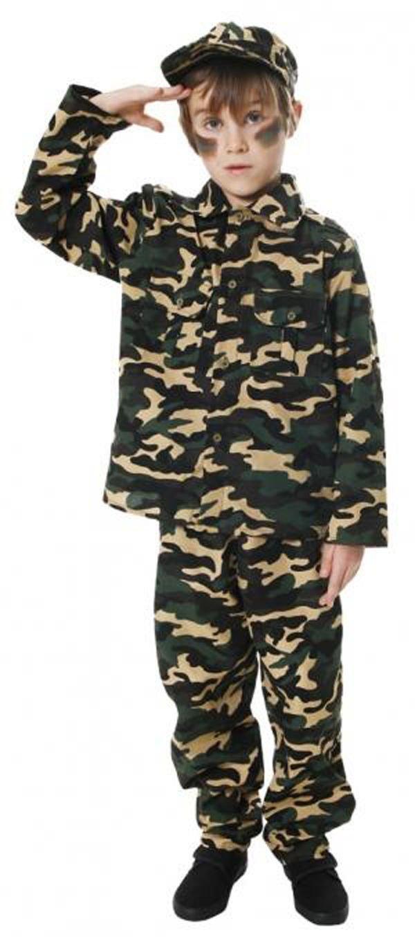 Jungen Kinder Kinder Armee Camouflage Boy Kostüm Combat Force Outfit 4–12 Jahre Welt Buch Tag/Woche