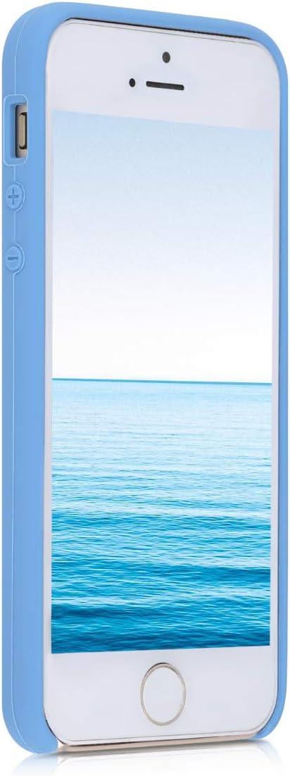 // 5 // 5S 1.Gen 2016 Cover Trasero en Azul Pastel Carcasa de TPU para m/óvil kwmobile Funda Compatible con Apple iPhone SE