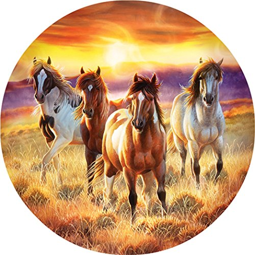 Running in the sun 500 pc Round Jigsaw Puzzle
