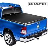Lund Genesis Elite Tri-Fold, Soft Folding Truck Bed Tonneau Cover   95894   Fits 2007 - 2013 GMC/Chevy Sierra/Silverado 8' Bed