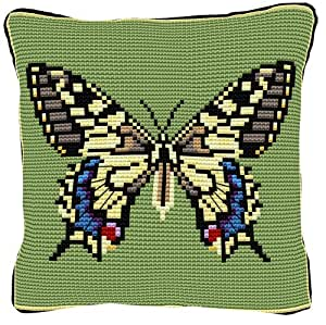 Brigantia Needlework - Kit de tapiz en punto de cruz rápido para parte delantera de cojín -  C564 Papilionidae