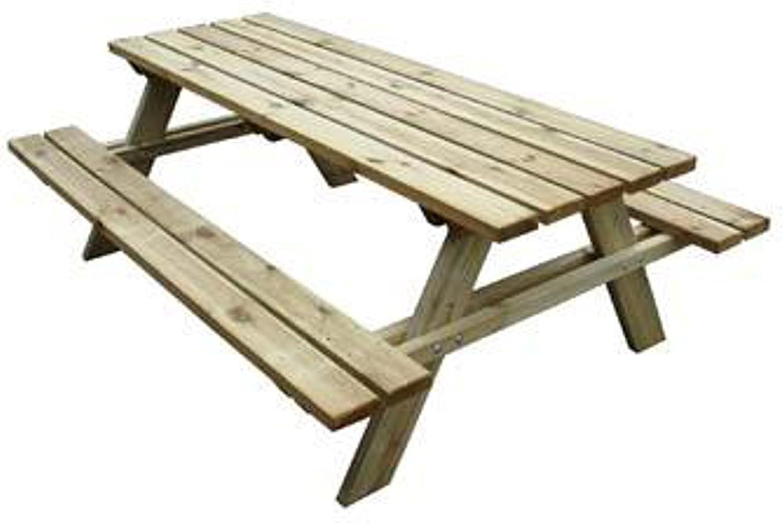 Vendita Panche E Tavoli Usati.Tavolo Con Panche Da Pic Nic In Legno Cm 200x148x70 H Amazon It Giardino E Giardinaggio