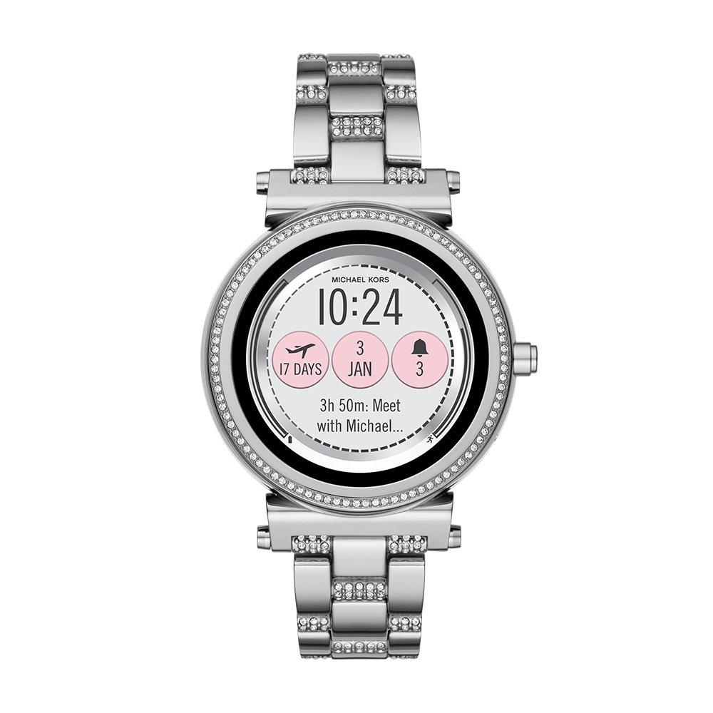 Amazon.com  Michael Kors Access, Women s Smartwatch, Sofie Stainless Steel,  MKT5036  Watches 17a5491d2e