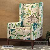 Kempton Lounge Chair (Aqua Flower) by Shilpmantra