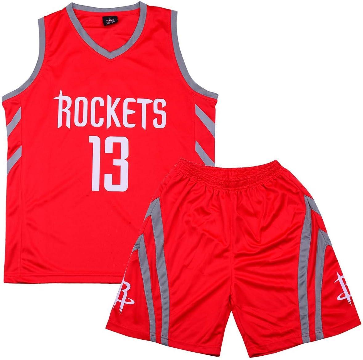 Formesy Gar/çon Fille Basket Maillots Lakers James#23 Harden#13 Boston#11 Basketball Jersey T-Shirt et Short Sportwear Ensemble pour Enfant Teenager