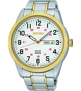 Seiko Mens SNE370 Analog Display Japanese Quartz Two Tone Watch