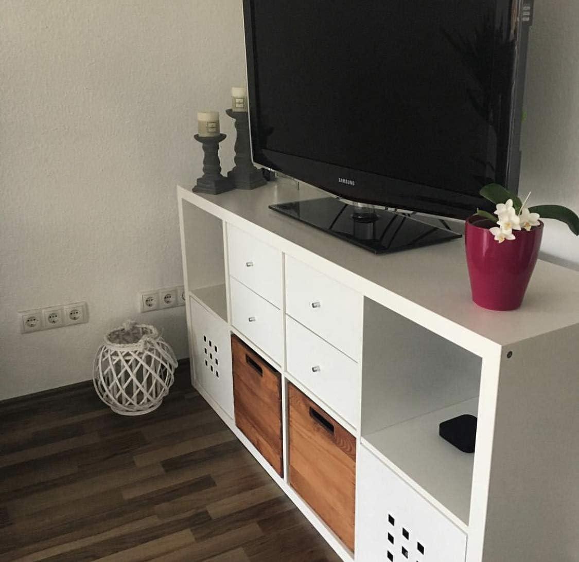 Moooble Neue Holzkisten als Fachelement f/ür IKEA Kallax Regal 32x37,5x32,5cm Used Look modernes Wohnflair zur Aufbewahrung /& Deko 2