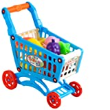 Iso Trade Childrens Shopping Cart Trolley Mini Shopping Cart For Kids Child Accessories Fruit Vegetables Set Complete Toy Gift 6107