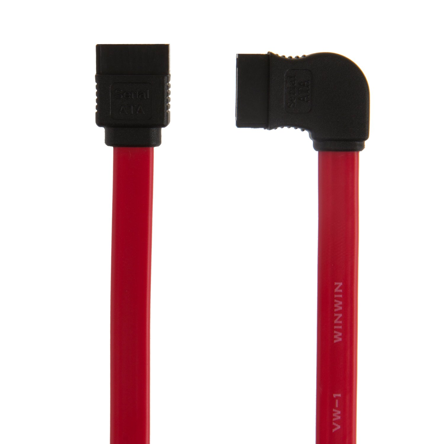 CableCreation 2-Pack Red 8-inch SATA III 6.0 Gbps 7pin Female to Down Angle Female Data Cable with Locking Latch SATA III Cable