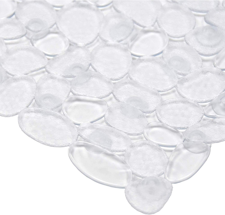 Latex BPA ventouses sans phtalates Ruiuzi Tapis de Bain Cailloux antid/érapant Lavable en Machine antibact/érien Blue, 53cm*53cm Tapis de Salle de Bain carr/é avec Trous de Drainage
