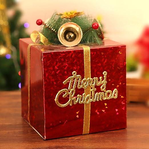 KYWBD Adornos de árbol de Navidad Caja de Regalo,Adornos navideños ...