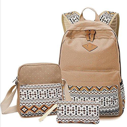XINYO modische student tasche, persönlichkeit umhängetasche, lady rucksack, drei stück, wandern, einkaufen, in verschiedenen farben. khaki.