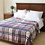 Royal- American Style Double Layer Winter Thickening Flannel Keep Warm Coral Cover Blanket Sheets Double Single Dormitory Blankets ( Size : 200cmx230cm(Double Layer) )