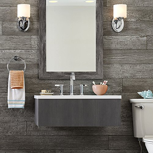 Decorative Panels International, Inc. Rustic Wall Planks by DPI, Thunder Grey (Dark) ()