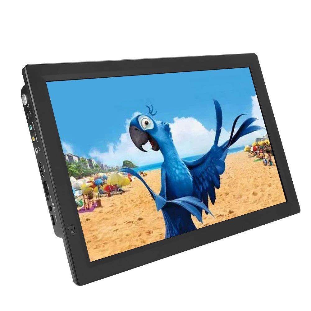 Lazmin Portable Digital TV, 14 inch DVB-T2 Analog USB Port Handheld Televisions for Home Car (110 - 220v)