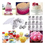 12PCS Russian Stainless Nozzles Tips Cake Decorating Pastry Baking Tools w/Box