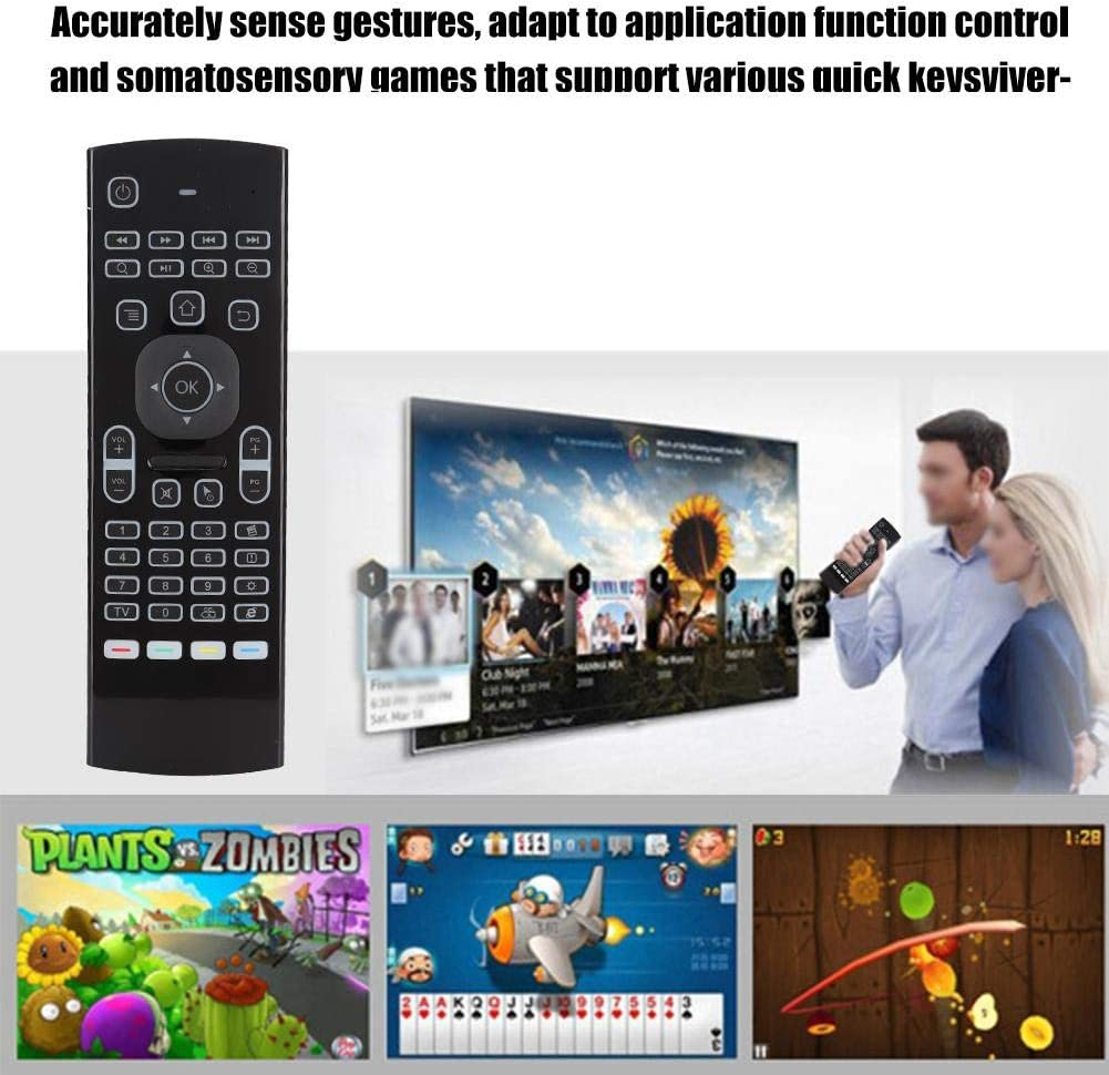 Mini Wireless Keyboard USB 2.4G Wireless Infrared Remote Control for PC HTPC IPTV Android TV Box Sanpyl Air Remote Mouse