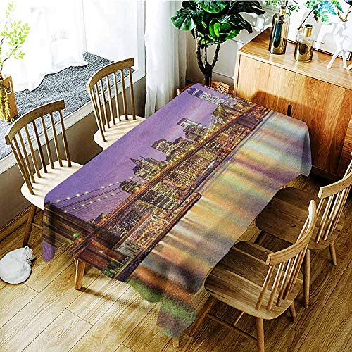 XXANS Fashions Rectangular Table Cloth,New York,NYC Exquisite Skyline
