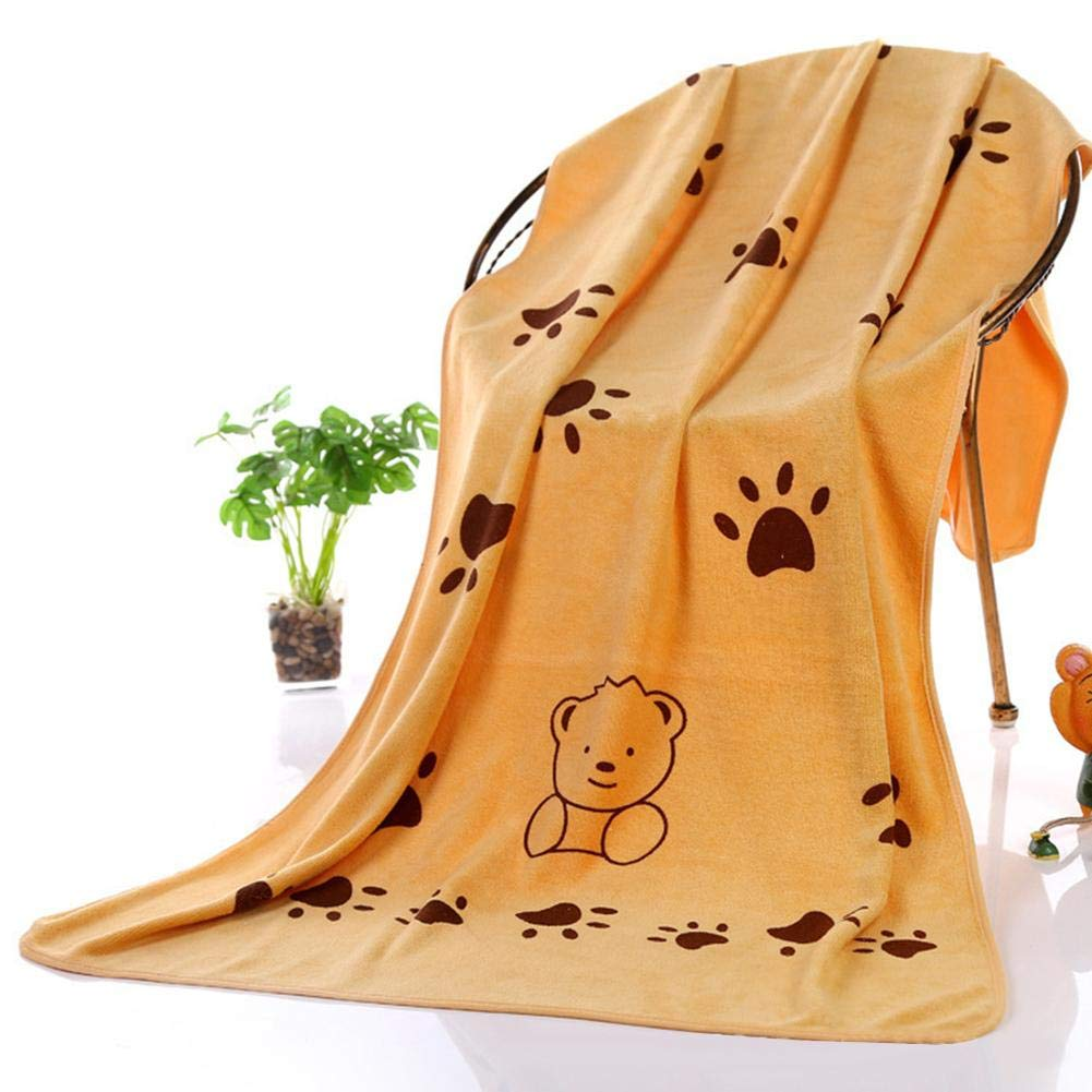 Reputedc, Perro Toalla de baño Toalla de baño Absorbente Fuerte Gato Mascota Toalla de baño bebé Toalla de baño 140 * 70CM
