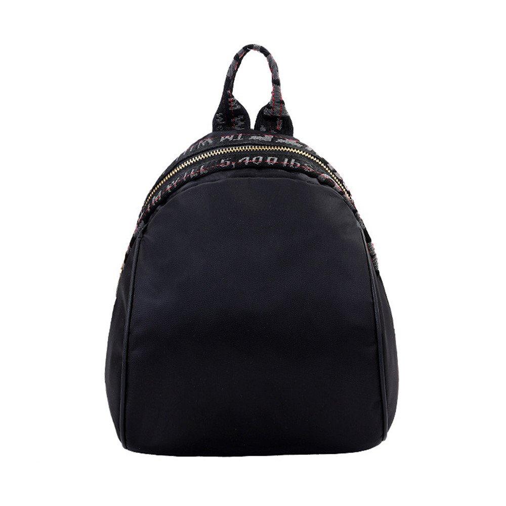 Weibliche Weibliche Weibliche Oxford dual Umhängetaschen Ribbon Zipper Multi-verwenden Sie Rucksack Schultasche B 11bec3
