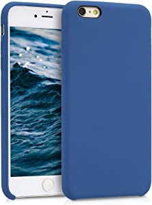 kwmobile TPU Silicone Case Compatible with Apple iPhone 6 Plus / 6S Plus - Soft Flexible Rubber Protective Cover - Cornflower Blue