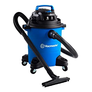 "Vacmaster 5 Gal. Wet/Dry Vacuum, 3 HP 1-1/4"" Hose (VOC507PF), Blue"