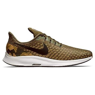 Nike Men's Air Zoom Pegasus 35 GPX Sneakers, Olive Canvas/Black | Road Running