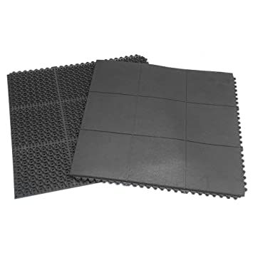 Interlocking Rubber Floor Tiles eco sport 34 inch interlocking rubber flooring tiles Rubber Cal Revolution Anti Fatigue Rubber Flooring Tile 5