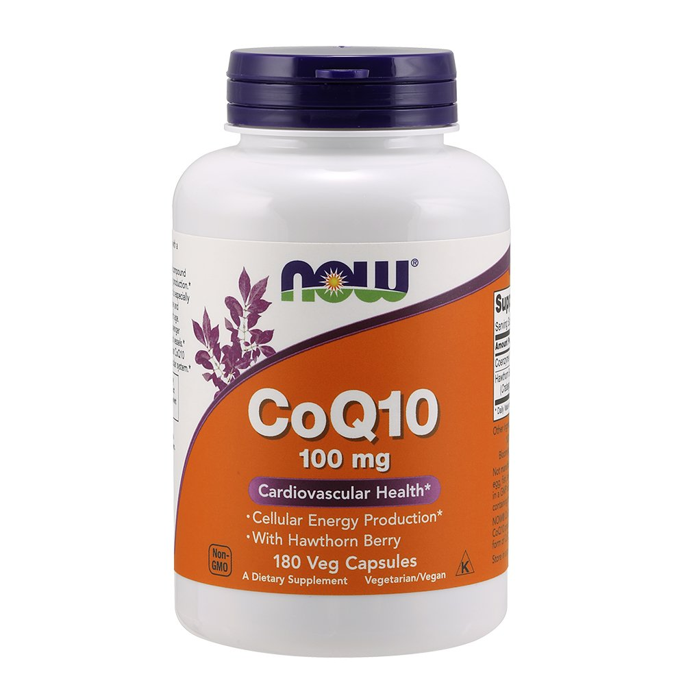 NOW® CoQ10, 100 mg, 180 Veg Capsules