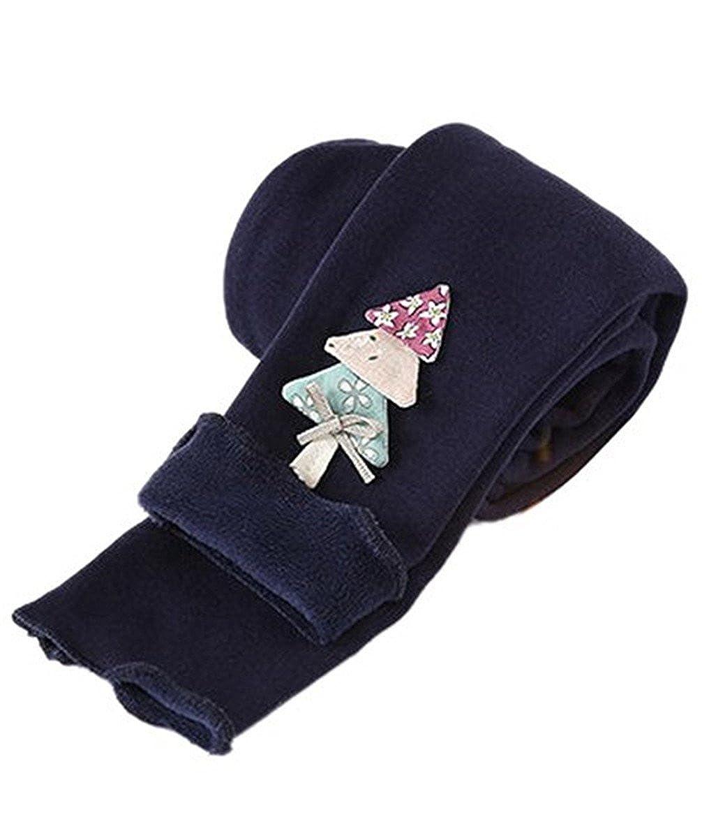 JELEUON Little Girls Kids Warm Fleece Lined Velvet Stretch Pants Leggings Tights