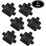 Junction Box Cable Connector, WAM Direct 6PCS Larger 3-way Outdoor Light Connector IP68 Waterproof- Black Electrical External Coupler Cable Gland M20 Cable Gland 5.5mm-10.2mm(ABS+PVC)