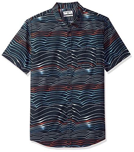 (Billabong Men's Sundays Lines Short Sleeve Shirt, Navy, XL)
