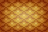 Gold Brown Damask Backdrop retro brown floral texture Printed Fabric Photography Background (F0271, 12' wide by 8' tall)