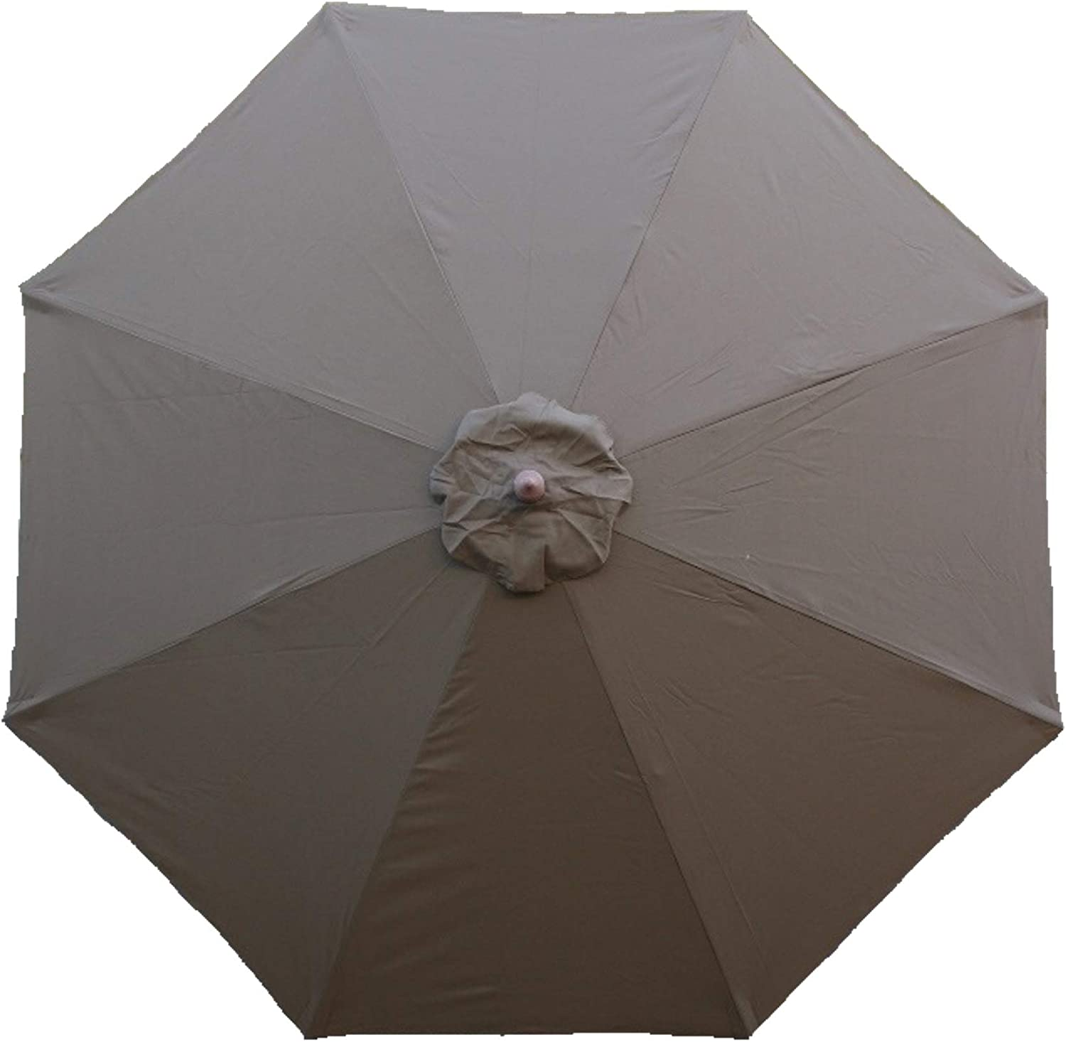 Formosa Covers 9ft Umbrella Replacement Canopy 8 Ribs in Cocoa Canopy Only