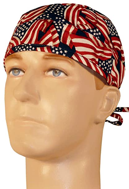 Medical Skull Cap - Small Tossed U.S. Flag at Amazon Women s ... dd0228bcf