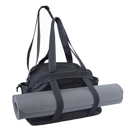 Aolvo - Bolso de yoga para esterilla de yoga, bolsa de almacenamiento para esterillas de yoga, pilates, ropa y accesorios de gimnasio, para mujer, ...